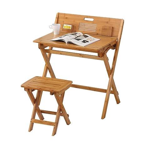 Amazon.com: Juego de taburetes de mesa plegables de bambú ...