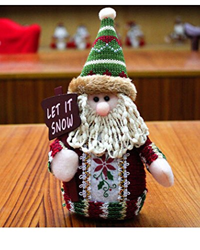 Christmas Ornaments Sitting Santa Claus Doll Toy Rag Plush Articles Stuffed FigureToy Collectible Figurines Toy Home Table Display Ornament Party Decoration, Xmas (Smokey The Bear Costume)