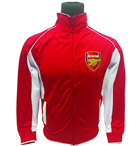 Kids Jackets of Real Madrid, Barcelona, Manchester, Chelsea, City, Liverpool, Arsenal (All Youth Sizes) (Youth X-Large 13-15 years, Arsenal Red/White)