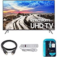 2017 Model UN82MU8000 Series MU8000 Class 82 4K TV Bundle Includes, 4K HDMI 2.0 Cable, Surge Protector