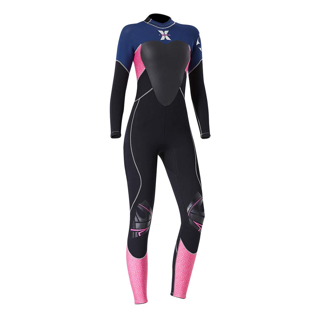 Onegirl Women's Keep Warm Wetsuit Sunscreen Swimming Surfing and Snorkeling Diving Coverall Suit Black by Onegirl Swimsuit (Image #2)