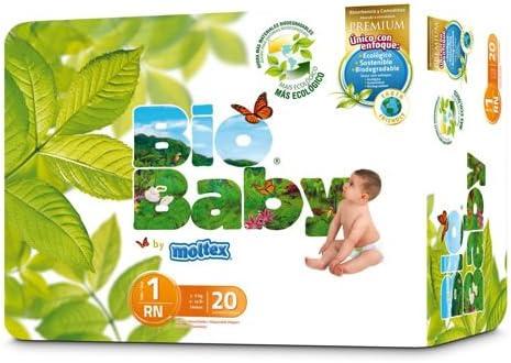 20uds eco 3-6kg Pa/ñales Bio Baby talla 1