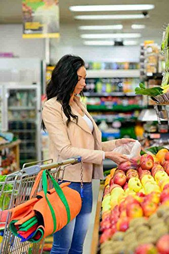 Trolley Bags - Reusable Eco Friendly Grocery Bags to Easily and Safely Bag your Groceries From Your Cart. Sized for Standard Grocery Carts. Reusable Cart Bags. (Standard Cart Size) by Trolley Bags (Image #7)