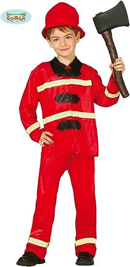 Disfraz de bombero infantil (7-9 años): Amazon.es: Juguetes y juegos