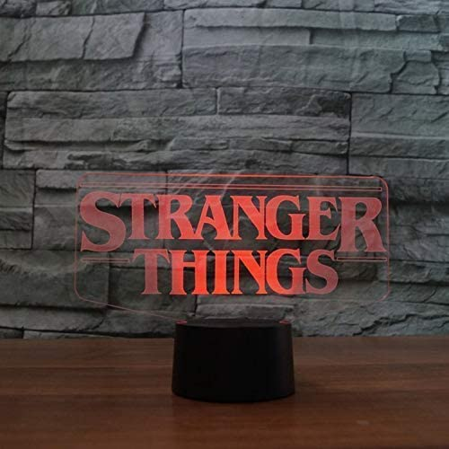 Stranger Things Model Optical Illusion Lamp Led 3D Lamp Night Light Acrylic Atmosphere Lamp 7 Color Modern Lamp