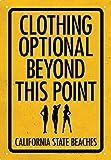 Clothing Optional Tin Sign