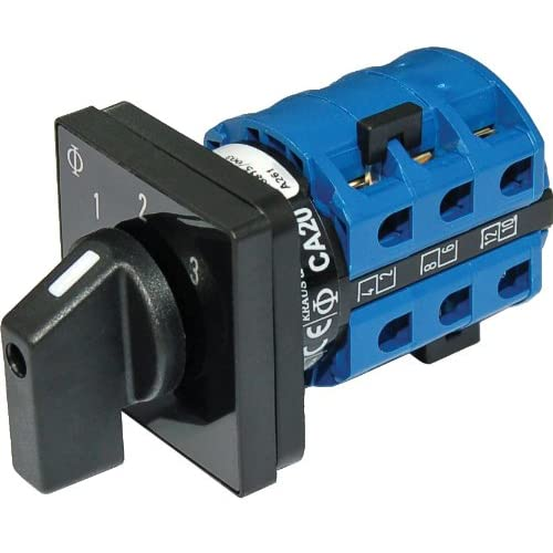 Image of AC Rotary Switch - OFF + 3 Positions 120V AC 30A Battery Switches
