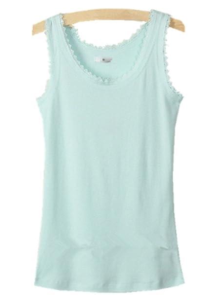 5c61838c57d YICHUN Women's Cotton Lace Vest Tank Sleeveless Undershirt Sport Yoga Tops