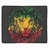 Rasta Flag Lion Extra Large Gaming Mouse Mat Non-Slip Rubber Base Sticthed Edge Mousepad for Computer Desk Stationery Accessories