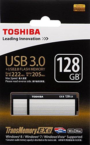 (Toshiba 128GB 128G USB 3.0 Flash Disk TransMemory-EX II USB3.0 Flash Drive Osumi USB Stick Read 222MB/s Write 205MB/s ( V3OE2-128GT ))