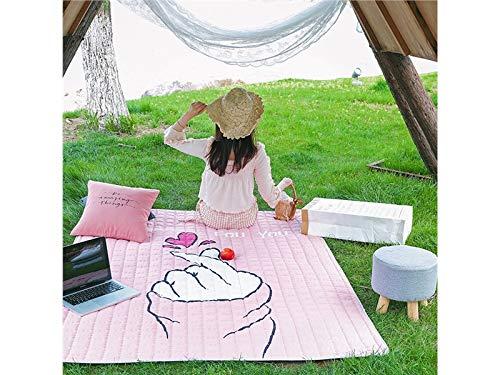 HNBGY Patrón Creativo Creativo Creativo Manta Impermeable de la Tienda del poliéster Que arrastra la Estera Anti Que acampa de la Comida campestre de la Arena del bebé para al Aire Libre (Rosa) (Color : Rosa) 9f7000