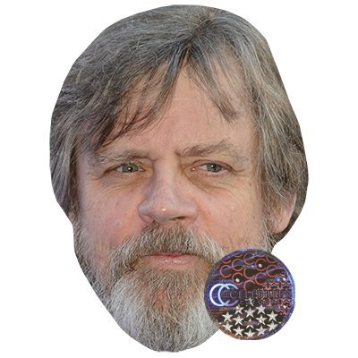 Mark Hamill Celebrity Mask Card Face and Fancy Dress Mask