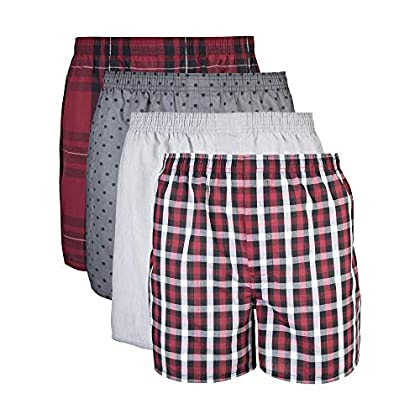 Gildan Men's Woven Boxer Underwear Multipack (Pattern May Vary)(Assorted)