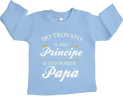 Shirtgeil Ho Trovato Il Mio Principe .pap/à Body Neonato Manica Lunga