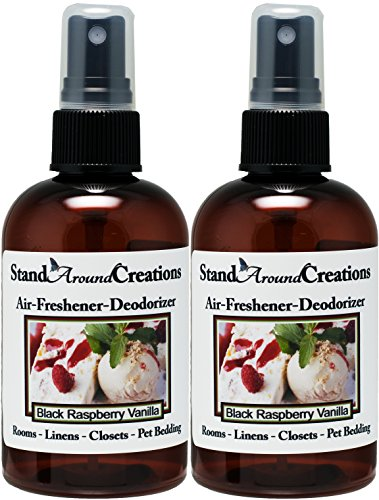 Set of 2 - Concentrated Spray For Room / Linen / Room Deodorizer / Air Freshener - 4 fl oz - Scent - Black Raspberry Vanilla by Stand Around Creations