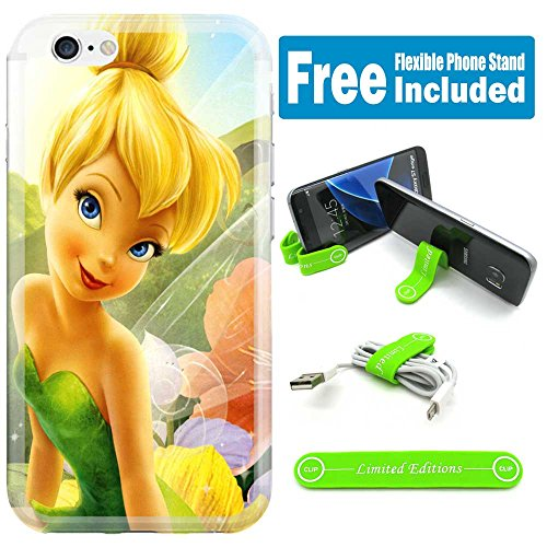 [Ashely Cases] Apple iPhone 8 / iPhone 7 Cover Case Skin with Flexible Phone Stand - Tinkerbell Sechim