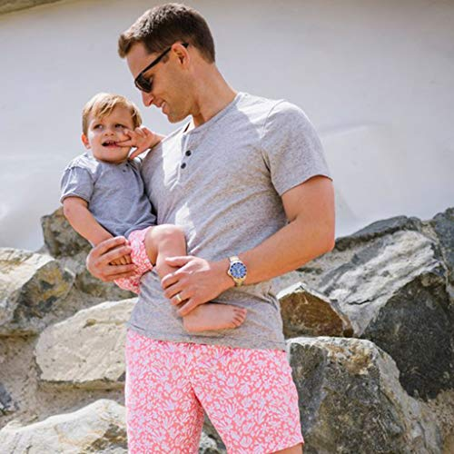 NUWFOR Men Daddy Swimwear Running Surfing Sports Beach Shorts Trunks Board Pants(Pink-Dad,US:L Waist33.1-35.4'') by NUWFOR (Image #2)