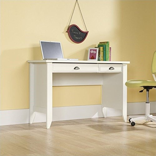 sauder shoal creek computer desk soft white finish
