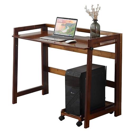 mesa plegable YNN portátil de Madera Maciza Lapdesk hogar Mesa de ...