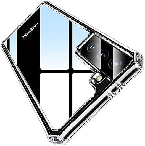 """VANMASS [Military Grade Anti-Drop] Designed for Samsung Galaxy S21 5G Case 6.2"""" [Optical Research Clear Material] Slim Phone Case Cover Compatible for Samsung S21 - CrystalFort Series"""