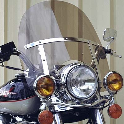"Harley Davidson Road King light tint windshield OEM height 19"" made of superior quality 7130 makrolan polycarbonate"