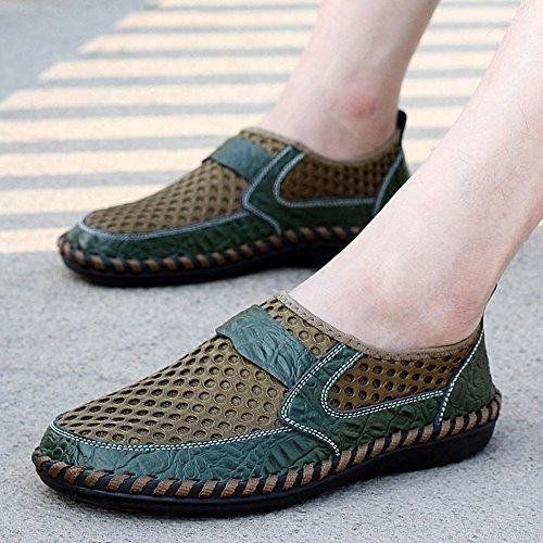 da Popolare verde Scarpe Uomo Scarpe Casual Slip Moda Passeggio On LIEBE721 q6U8wFq