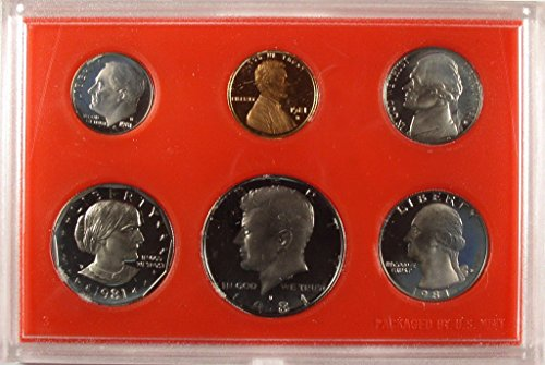 1981 S US Proof Set Original Government Packaging from Proof Sets