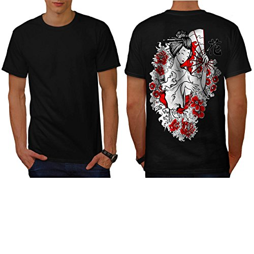 geisha-flower-power-japan-lady-men-new-m-t-shirt-back-wellcoda