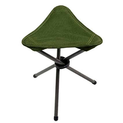 ZGL Outdoors Light Fold Triangle Stool Outdoor Fishing Chair Portable  Waiting Queue Up Train Mazar Green