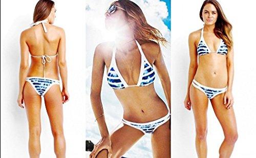 3c7302b40450a Lukitty Women s High Neck Halter Bikini Sets Bathing Suits Swimwear  Swimsuits