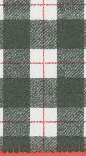 Caspari Tartan Plaid Christmas Decor Paper Guest Towels Chri
