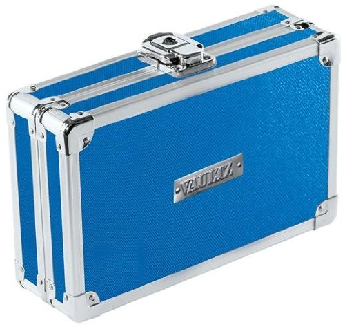 - Vaultz Locking Pencil Box, 8.25 x 5.5 x 2.5 Inches, Blue (VZ01259)