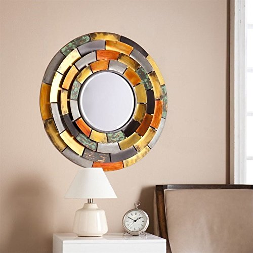 Baroda Round Decorative Wall Mirror - Glass Wall Mirror