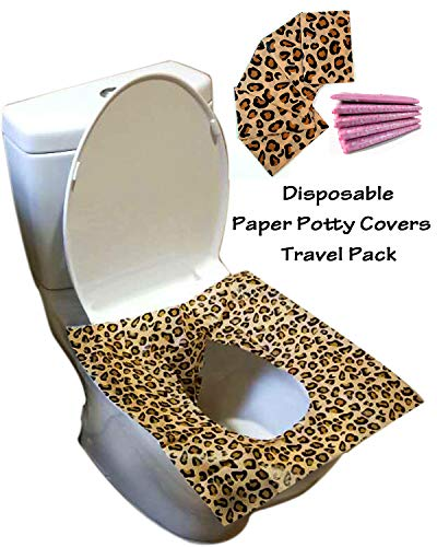 Disposable Toilet Seat Covers 25 Sheets(5 Bags) - Perfect Travel Pack Both for Kids and Adults