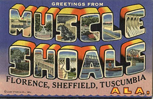Greetings From Muscle Shoals Florence, Alabama Original Vintage Postcard ()
