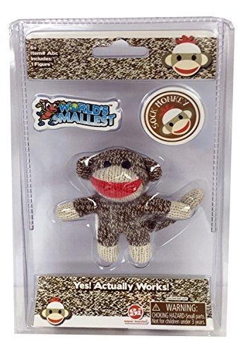 Sock Monkey Doll Miniature Edition- Original, Pocket-Sized Toy by World's -