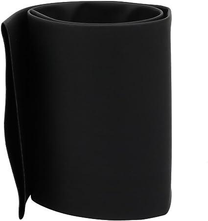 sourcing map Tubo termoretr/áctil Negro de Conexi/ón arrollada de 1.6Ft Largo 80mm Di/ámetro Interior Aislado de poliolefina