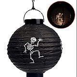 Refaxi LED Paper Pumpkin Bat Spider Hanging Lantern Light Lamp Halloween Party Decor