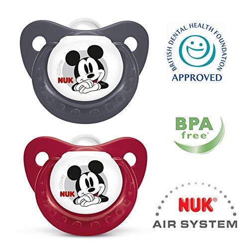 NUK Disney Mickey Mouse silicona Chupete Tamaño 1 2 por paquete ...