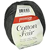 Premier Yarns Cotton Fair Solid Yarn, Slate Gray