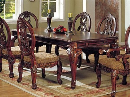 Tuscany Antique Cherry Formal Dining Table by Furniture of America (Dining Tuscany Furniture Room)