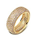 oster cable - Daesar Gold Plated Rings Womens Engagement Rings Rose Gold Full Cubic Zirconia Eternity Size 8