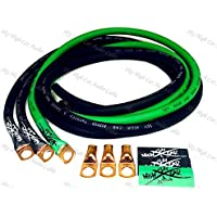 Sky High Oversized 4 Gauge OFC Big 3 Upgrade GREEN/BLACK Electrical Wiring Kit