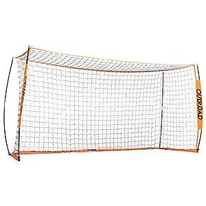 Outroad Portable 6×4 ft 12×6 ft Soccer Goal for Backyard – Practice Bow Style Soccer Net, Metal Basic Soccer Net for Practice, Goal Post for Soccer w/Carry Bag