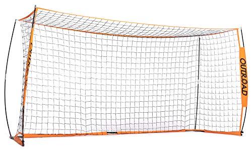 - Outroad Portable 12x6 Soccer Goal for Backyard, Metal Basic Soccer Net for Practice, Goal Post for Soccer w/Carry Bag,(Orange)