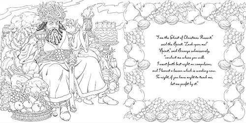A christmas carol a coloring classic for Christmas carol coloring pages