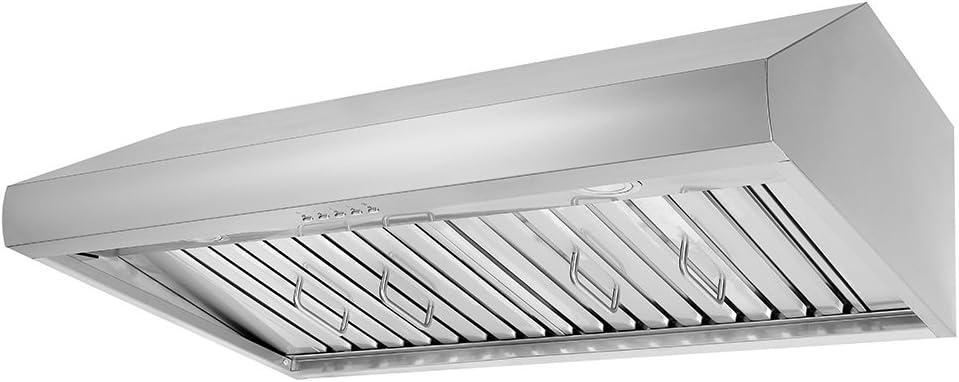 """Thor Kitchen 48"""" Under Cabinet Range Hood 900CFM 3-Speed Stainless Steel With 3 Light Blubs HRH4806U"""