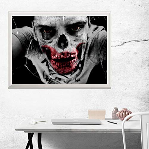 Exteren Halloween Terror 3D Adesivos Bruxas Decor Wall Stickers Party for Living Room Kitchen Bathrooms Bedroom etc (Mulitcolor) -