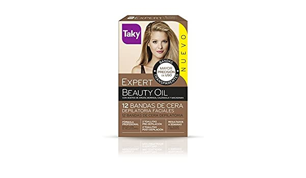 Amazon.com: Taky BEAUTY OIL bands facial depilatory wax 12 pcs by VARIOS: Beauty