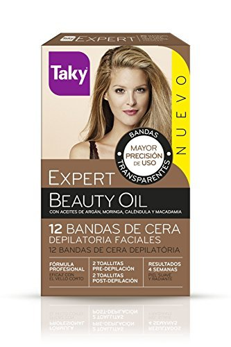 Taky BEAUTY OIL bands facial depilatory wax 12 pcs by VARIOS